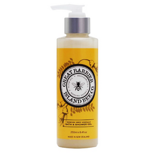 Kowhai and Vanilla Bath and Shower Gel Pump