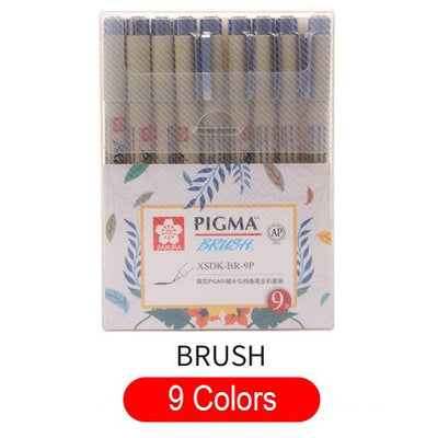 Multi-Color Needle Drawing Brush Pen
