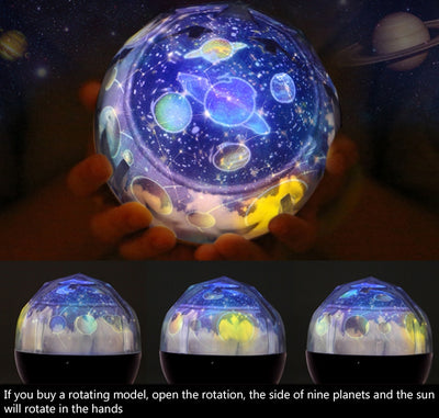 Starry Sky Earth Rotate Projector Lamp