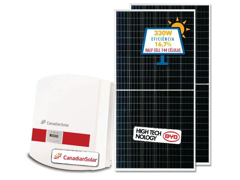 GERADOR DE ENERGIA CANADIAN COLONIAL GEF-66000CC 66KWP CANADIAN TRIF 380V BYD HALF CELL