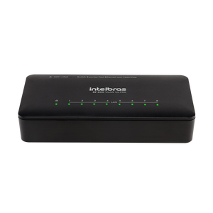 Switch 8 portas Fast Ethernet com VLAN Fixa e proteção antissurto SF 800 VLAN ULTRA