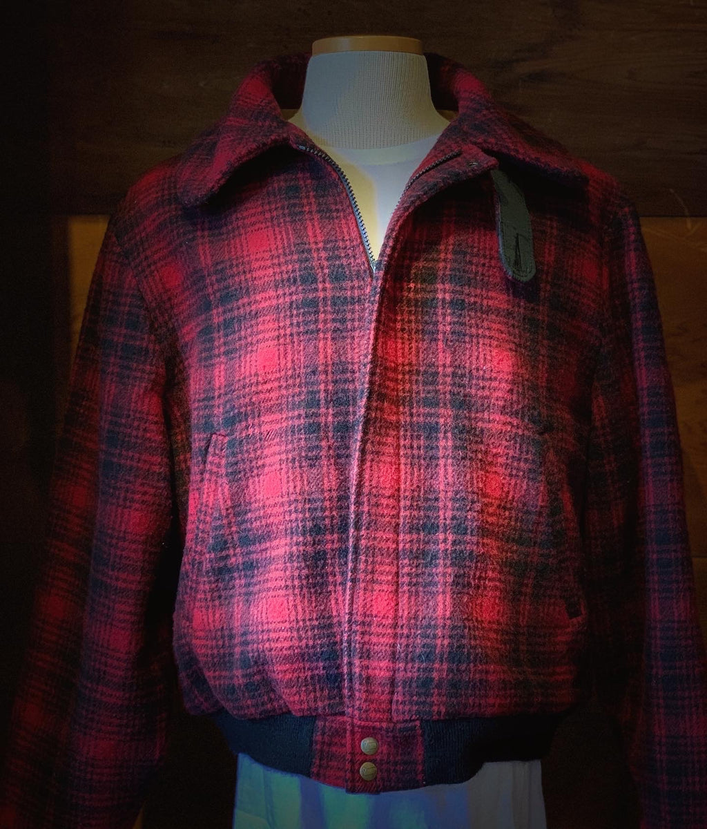 VINTAGE WOOLRICH MACKINAW BOMBER COAT