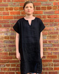 Linen Shift Dress (Black)
