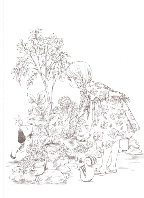 Forest Girl\'s Coloring Book by Aeppol