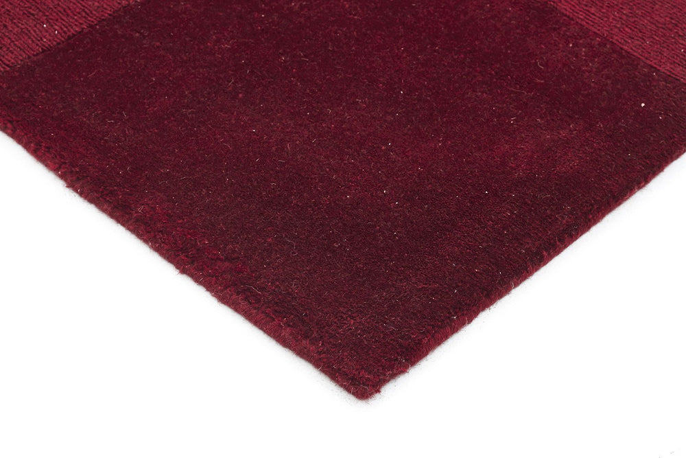 Timeless Boxed Pattern Wool - Red