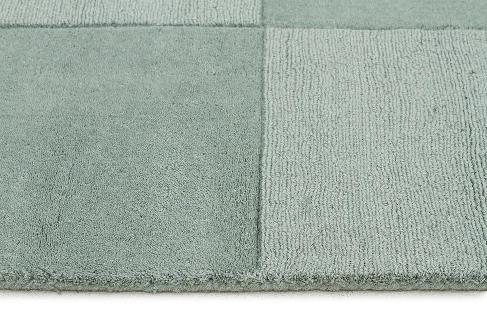 Timeless Boxed Pattern Wool - Seafoam