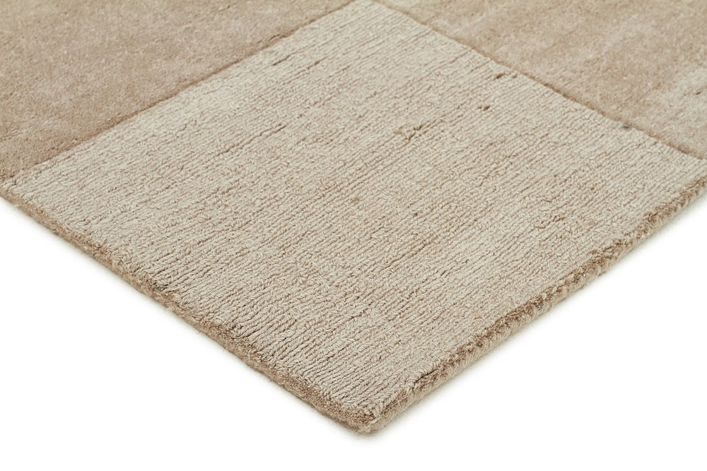 Timeless Boxed Pattern Wool - Taupe