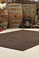 Timeless Loop Wool Pile - Chocolate