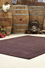 Timeless Loop Wool Pile - Eggplant