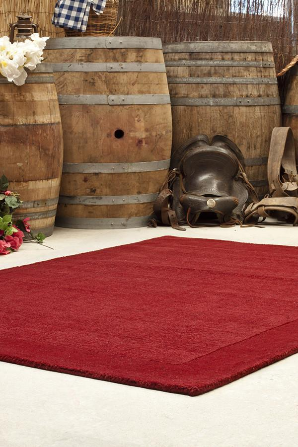Timeless Loop Wool Pile - Red