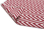 Chevron Cotton Jute Rug - Red - Cheapest Rugs Online - 2