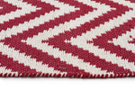 Chevron Cotton Jute Rug - Red - Cheapest Rugs Online - 3