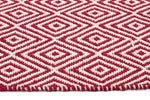 Diamond Cotton Jute Rug - Red - Cheapest Rugs Online - 3