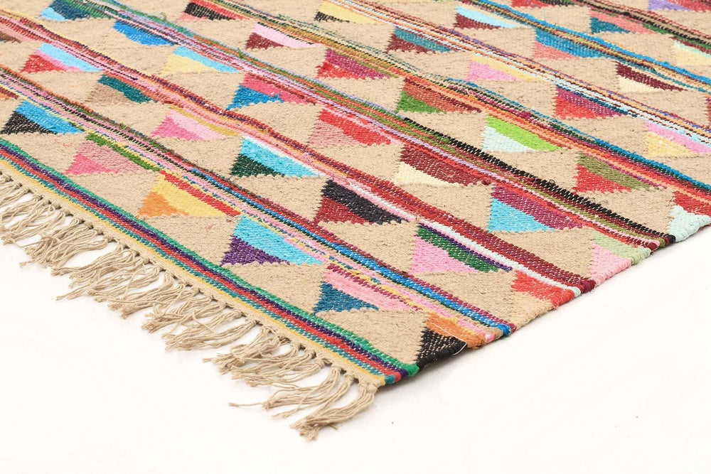 Marlo Natural Jute and Cotton Rug - Multi