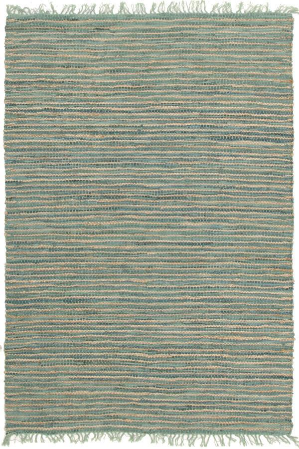 Bondi Jute and Leather - Aqua