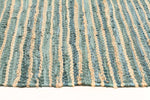 Bondi Jute and Leather - Aqua [Runner]