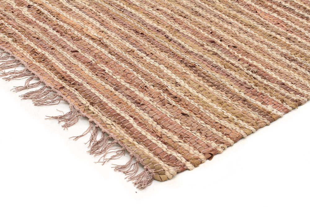 Bondi Jute and Leather - Brown [Runner]