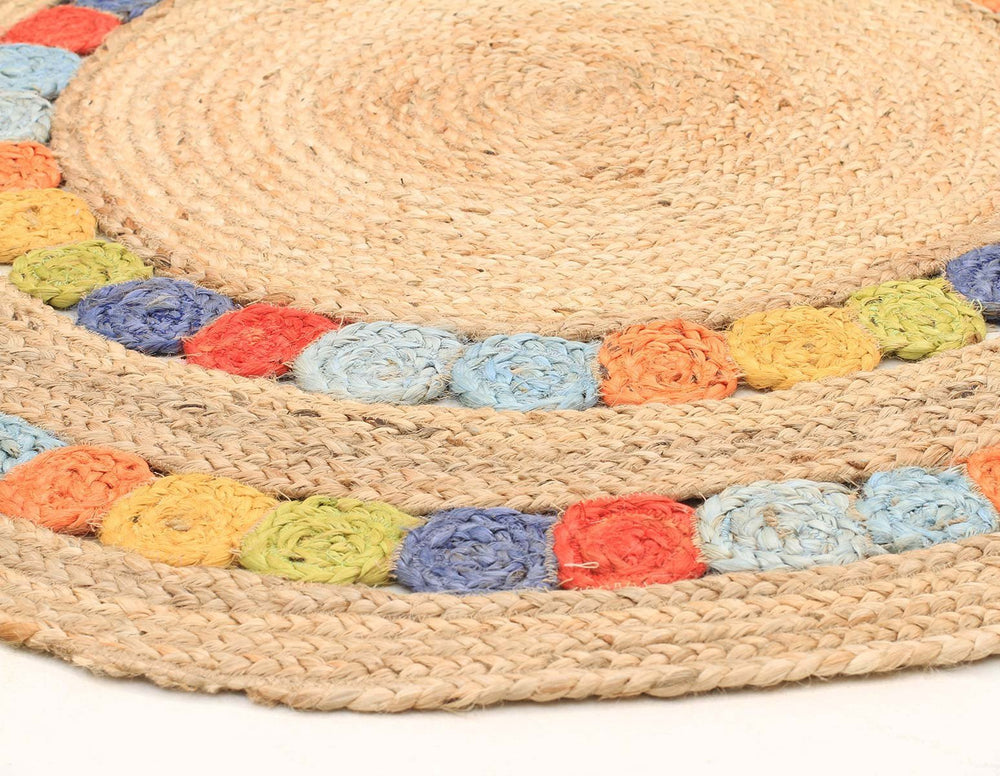 Delilah Jute - Natural Multi [Round]