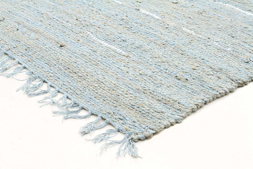 Saville Jute and Leather - Blue [Runner]