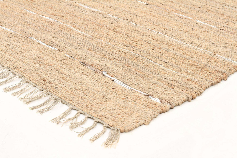 Saville Jute and Leather - Natural [Runner]