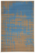 Modern Distressed Pattern - Blue Brown