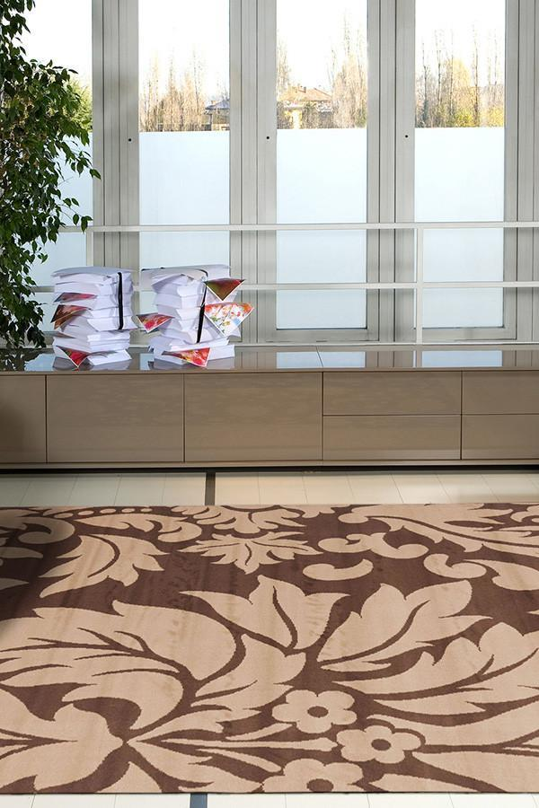 Stunning Floral Pattern - Brown Beige