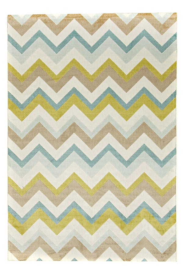 City Chevron Design - Green Cream