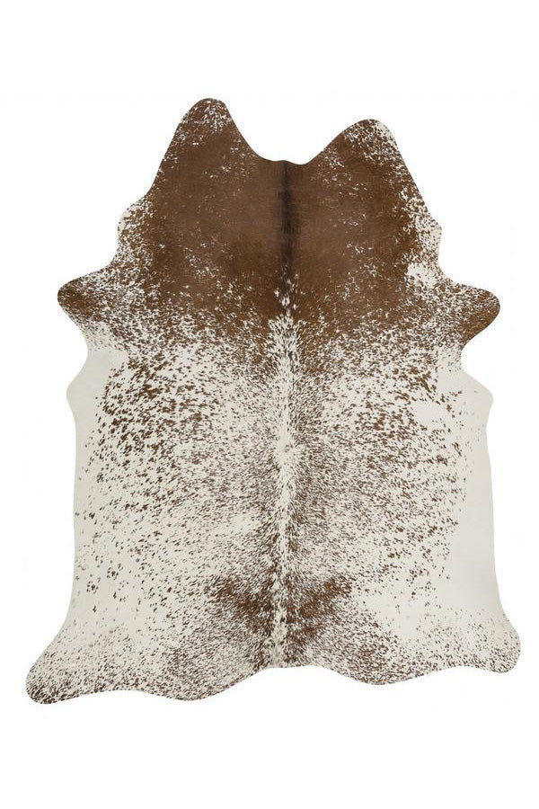 Exquisite Natural Cow Hide - Salt & Pepper Brown