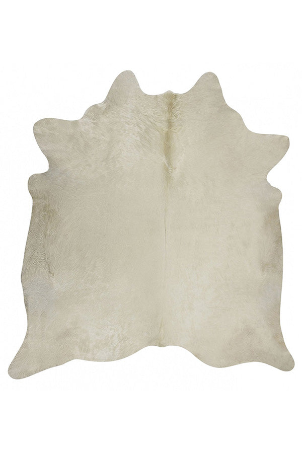 Exquisite Natural Cow Hide - White