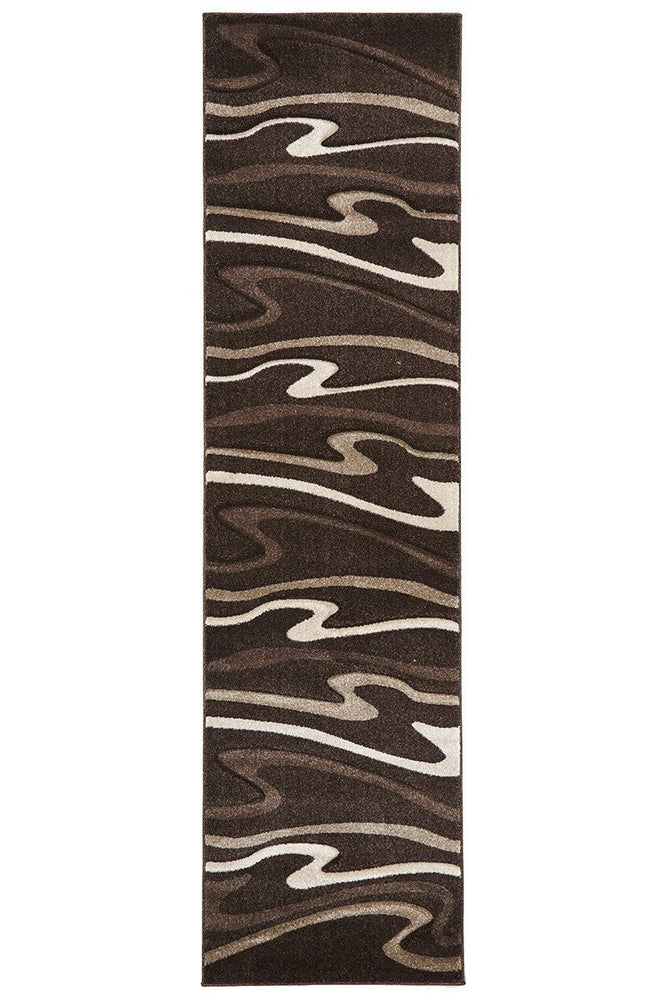 Icon Modern Swirls - Dark Brown [Runner]