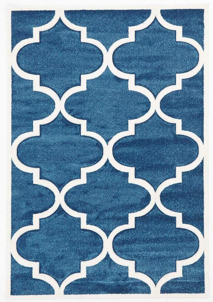 Icon Large Modern Trellis - Blue