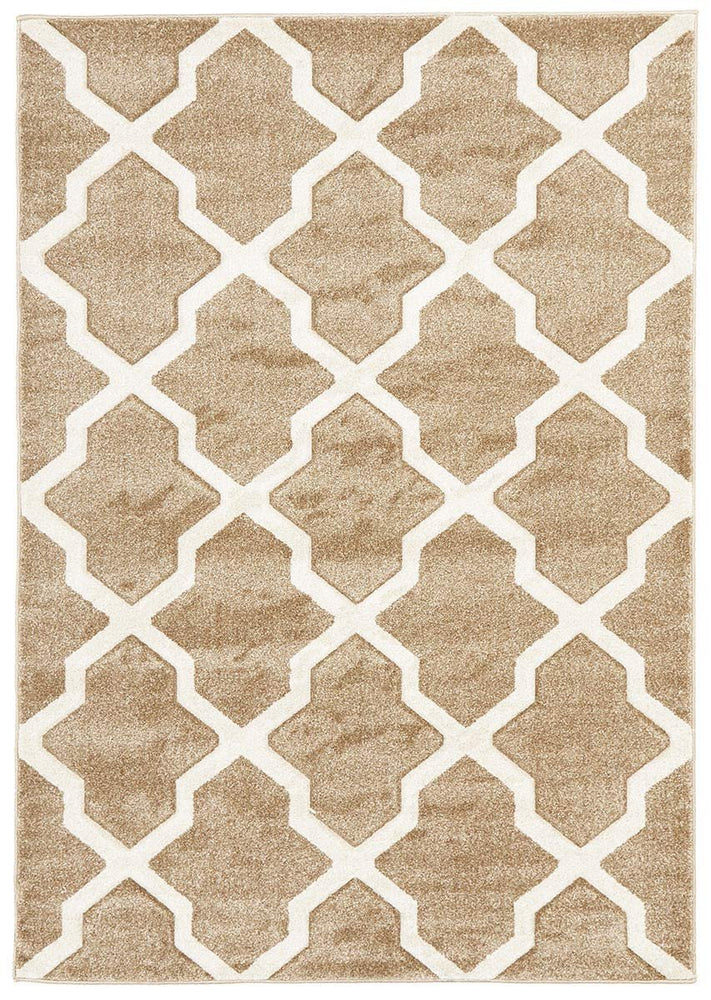 Icon Cross Hatch Modern - Beige