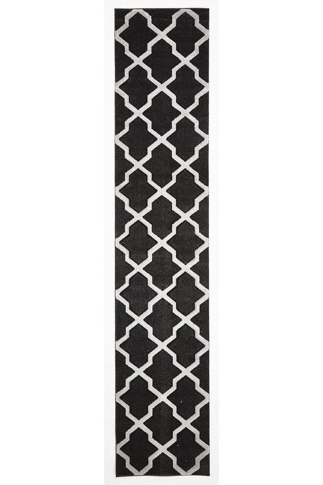 Icon Cross Hatch Modern - Charcoal [Runner]