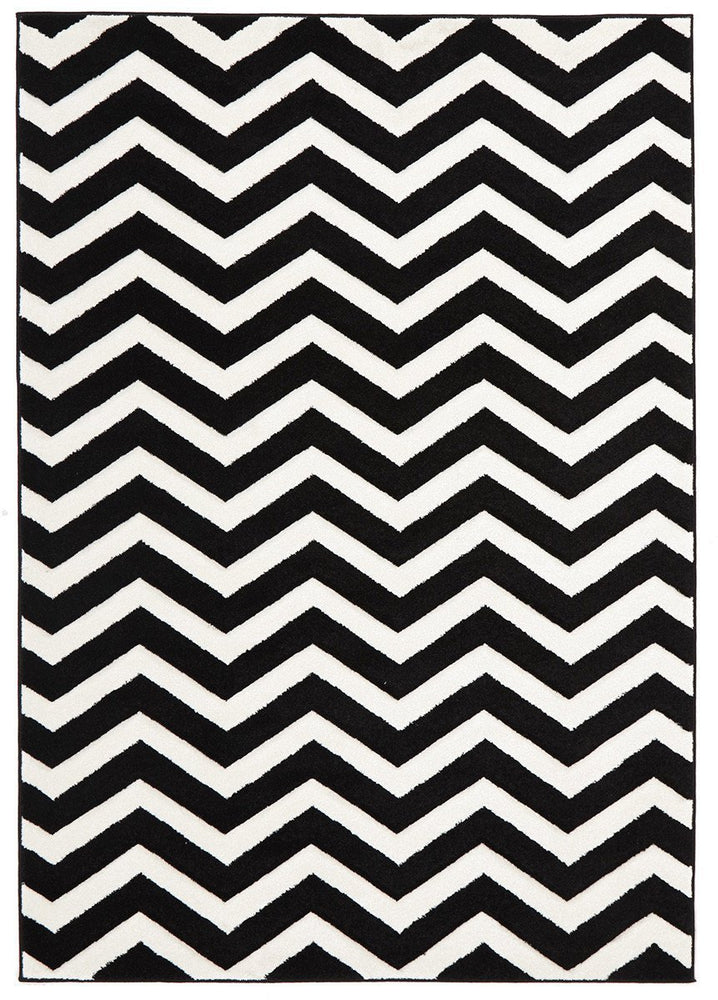 Icon Modern Chevron Design - Black White