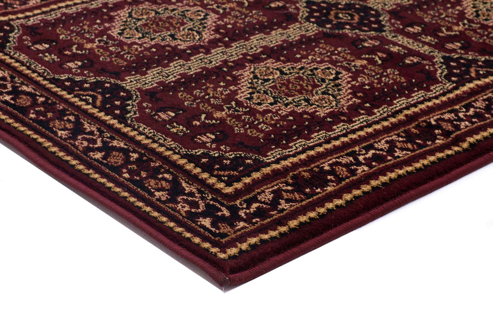 Istanbul Traditional Afghan Design - Burgundy Red
