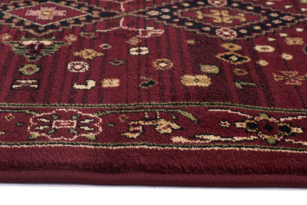 Istanbul Traditional Shiraz Design - Burgundy Red
