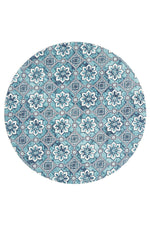 Lunar Printed - Turquoise [Round]