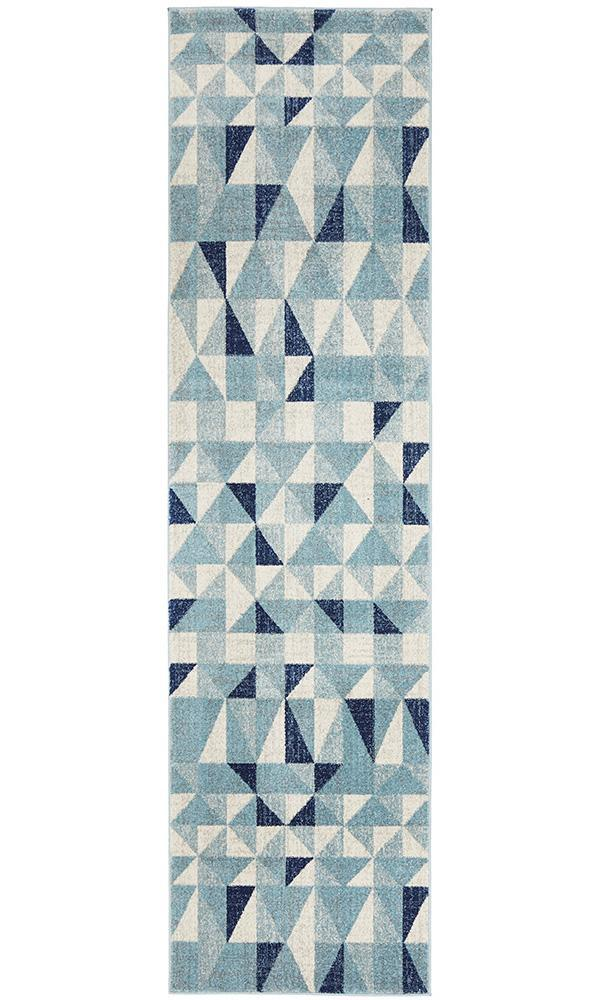 Mirage Illusion Geo - Blue Ivory [Runner]