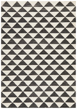 Astrid Geo Flat Weave Wool - Black & White