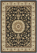Sydney Medallion - Black & Ivory Border
