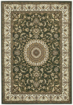 Sydney Medallion - Green & Ivory Border