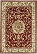 Sydney Medallion - Red & Ivory Border