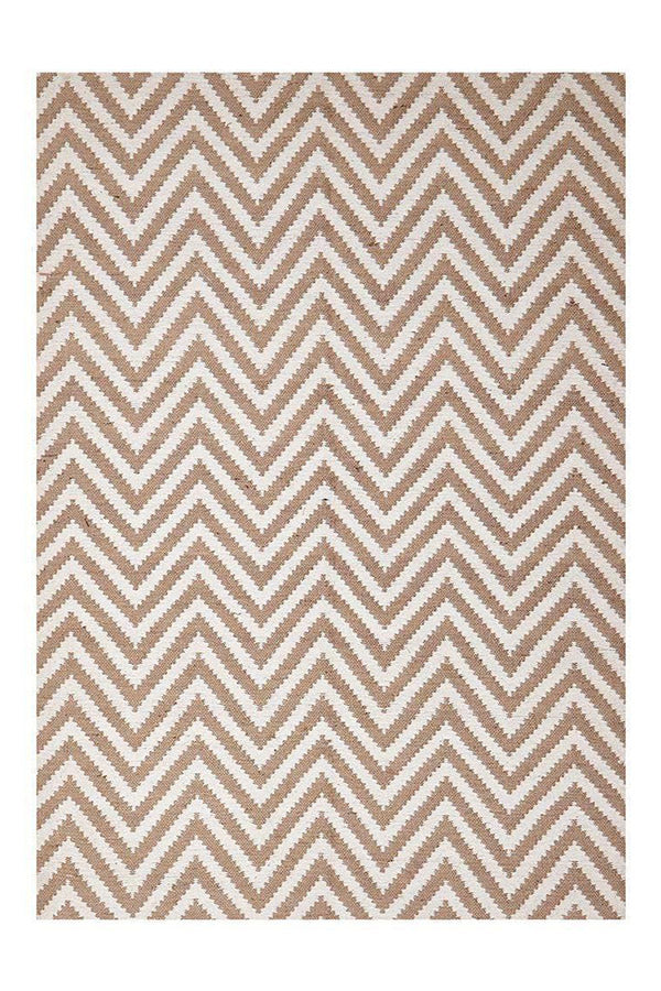 Chevron Cotton Jute - Beige