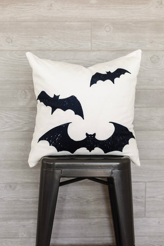 Spooky Bats Pillow Cover
