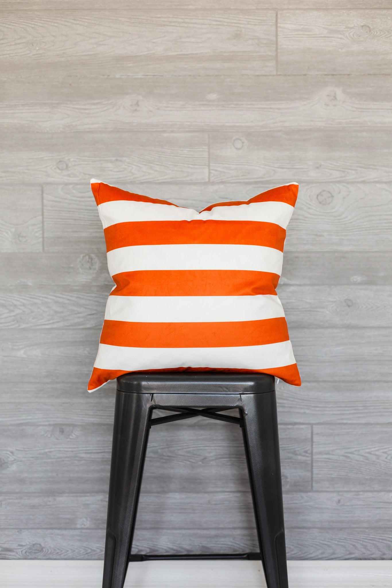 Orange Stripe Pillow Cover