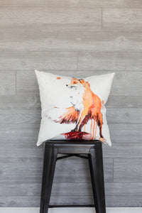 Fall Fox Pillow Cover
