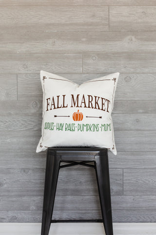 Fall Market Pillow Cover