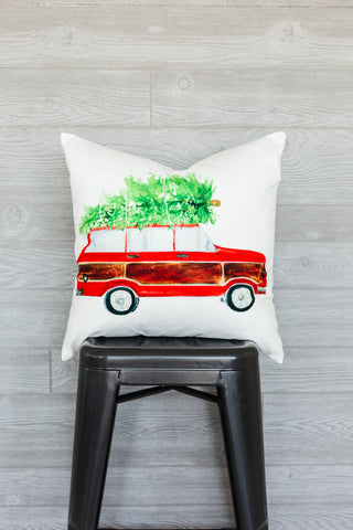 Christmas Car Pillow Cover