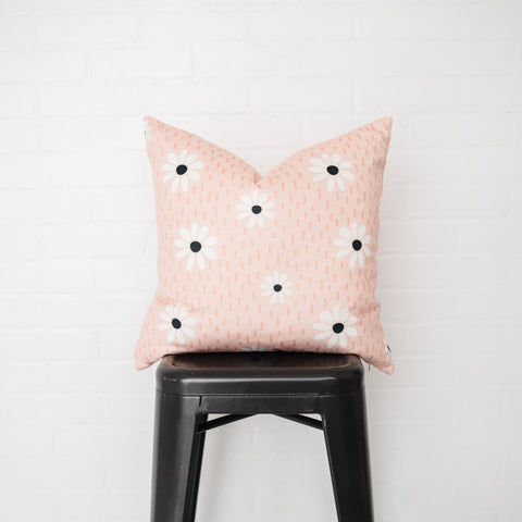 Pink Daisy Pillow Cover