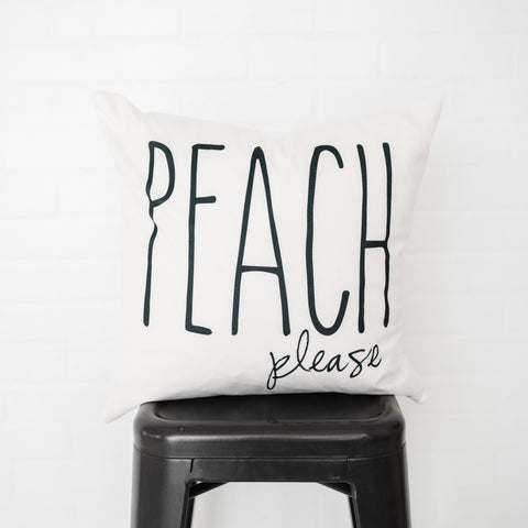 Peach Please Pillow Cover